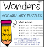Wonders Vocabulary Puzzles: Unit 4