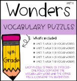 Wonders Vocabulary Puzzles: Unit 5