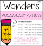 Wonders Vocabulary Puzzles: Unit 6