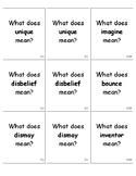 3rd Grade Wonders Vocabulary Quiz Cards Unit 3