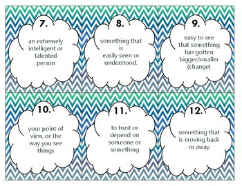 Wonders U5 Vocabulary SCOOT (5th)
