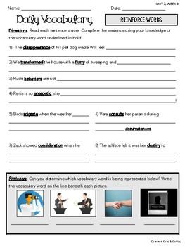 Wonders Vocabulary Supplements - GRADE 5, UNIT 2