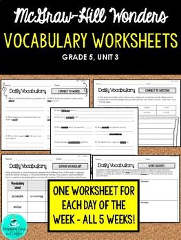 Wonders Vocabulary Supplements - GRADE 5, UNIT 3