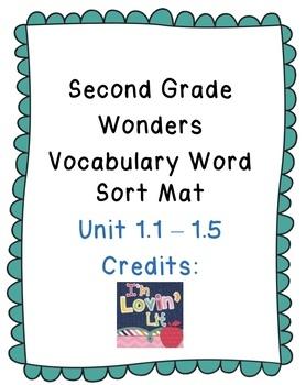 Wonders Vocabulary Unit 1 Word Sort Mat
