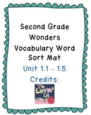 Wonders Vocabulary Unit 1 Word Sort Mat