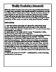 Wonders Vocabulary Unit1, Stories 1-5 Interactive Notebook