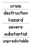 Wonders Vocabulary Word Wall