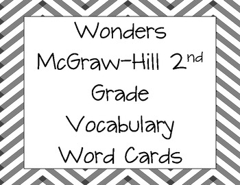 Wonders Vocabulary and Spelling Word Cards 2nd Grade All Units
