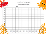 McGraw-Hill Reading Wonders Weekly Goals Graph