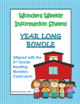 Wonders Weekly Information Sheets - YEAR LONG BUNDLE!
