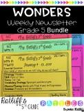 Wonders Weekly Newsletter Grade 5 Bundle