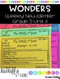 Wonders Weekly Newsletter Grade 5 Unit 4