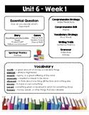 Wonders Weekly Newsletters (Grade 3, Unit 6)