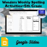 Wonders Weekly Spelling Activities, Unit 1-5th Grade (Goog