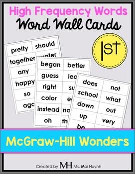 Wonders Word Wall Cards