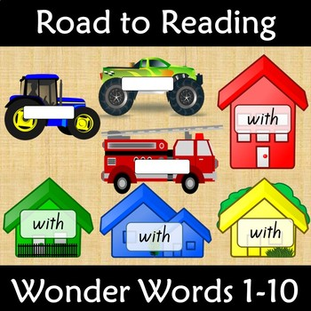 Wonders Word Wall Road to Reading Kindergarten Units 1-10