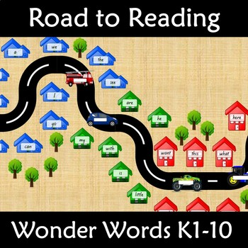 Wonders Word Wall Road to Reading Kindergarten Units 1-10