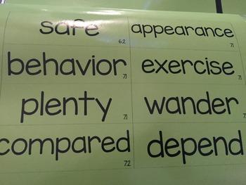 Wonders Word Wall Vocabulary