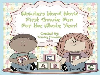 Wonders Word Work 1st grade Bundle For the YearUnits 1-6 F