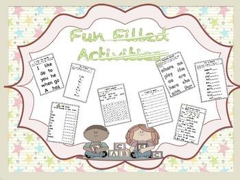 Wonders Word Work 1st grade Unit 5 FunFunFun