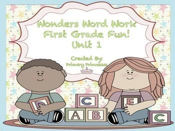 Wonders Word Work 1st grade Units 1 FunFunFun