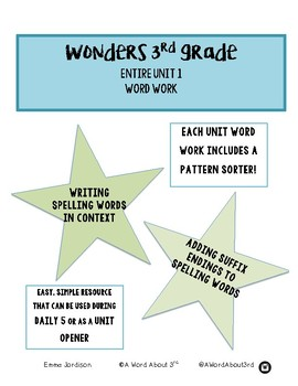 Wonders Word Work- 3rd Grade