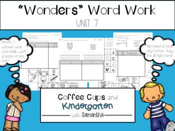 Wonders Word Work Unit Seven (NO PREP!)