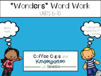 Wonders Work Work Units 6-10 BUNDLE (NO PREP!)