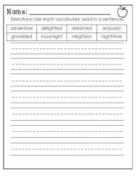 Wonders Worksheets/Centers Unit 3 Week 2. Starry Night. Second Grade
