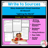 Wonders Write to  Sources Journal Grade 3 Unit 1.4 SAMPLE