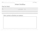 Wonders Writer's Workshop Unit 4-6 Student Worksheets