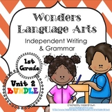 Wonders Writing 1st grade Language Arts Writing and Grammar Unit 2 Bundle