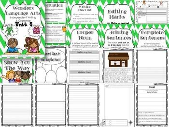 Wonders Writing 1st grade Language Arts Writing and Grammar Unit 5 Bundle