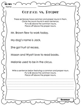 Wonders Writing and Grammar 1st Grade Unit 2 Week 4