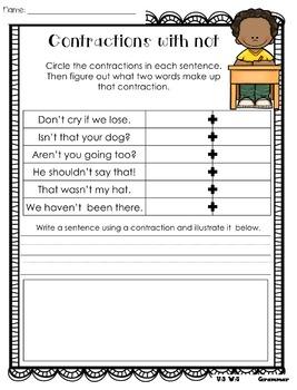 Wonders Writing and Grammar 1st Grade Unit 3 Week 5