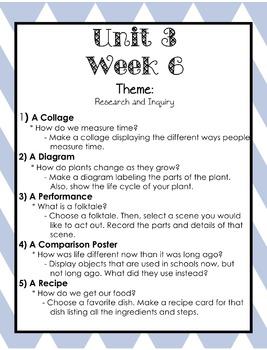 Wonders Writing and Grammar: 1st Grade Unit 3 Week 6