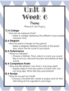 Wonders Writing and Grammar 1st Grade Unit 3 Week 6