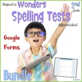 2nd Grade Spelling Tests Bundle aligned to Wonders Distanc