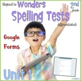 2nd Grade Spelling Tests Unit 1 Google Forms Distance Learning