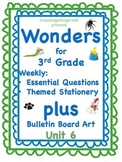 Wonders: 3rd Grade PLUS Bulletin Board Clip Art: Unit 6 Essential Questions