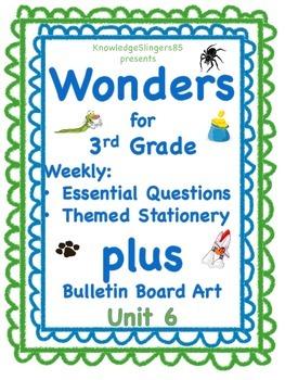 Wonders: 3rd Grade PLUS Bulletin Board Clip Art: Unit 6 Es