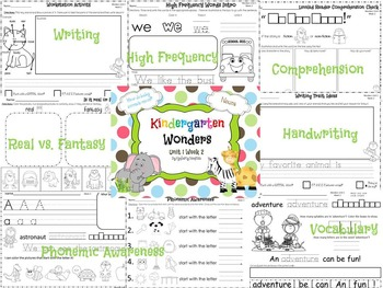 Wonders Reading for Kindergarten: Unit 1 Week 2 Extension Activities