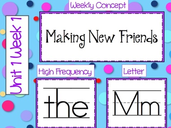 Wonders for Kindergarten: Word Cards for High Frequency, Letter, & Vocabulary