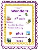 Wonders for 3rd Grade Plus Bulletin Board Clip Art: Unit 5 Essential Questions