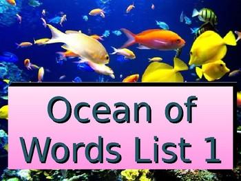 Reading Wonders kindergarten high frequency words 1st 9 weeks