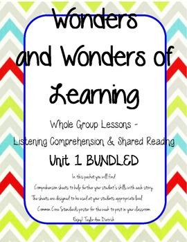 Wonders of Learning - Unit 1 BUNDLED - Reading Comprehension - 1st grade