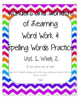 Wonders of Learning - Unit 1, Week 2 - Spelling and Word Work - 1st Grade