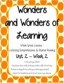 Wonders of Learning- Unit 2, Week 2 - Reading Comprehension - 1st grade
