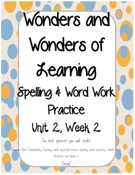 Wonders of Learning - Unit 2, Week 2 - Spelling & Word Work - 1st Grade
