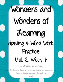 Wonders of Learning - Unit 2, Week 4 - Word Work - 1st grade